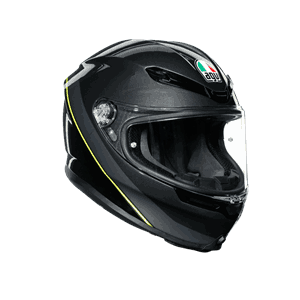 K6 AGV E2205 - Gunmetal/balck/yellow - Medium Large