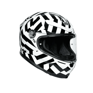 K6 AGV - Black/white  - Xtra Large